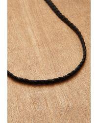 Forever 21 - Black Men Ettika Shark Tooth Genuine Leather Necklace for Men - Lyst