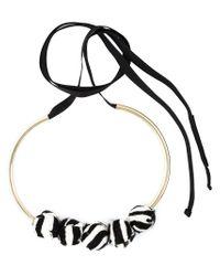Marni - Black Zebra Pattern Necklace - Lyst
