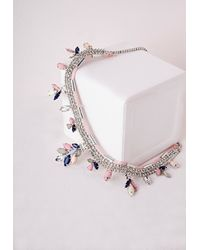 Missguided | Multicolor Gem Layer Beaded Necklace Multi | Lyst