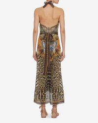 Camilla - Multicolor Animal Print Wrap Maxi Dress - Lyst