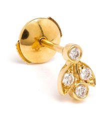Yvonne Léon | Metallic 18Kt Gold 'Feuilletis Pampille' Stud Earring | Lyst