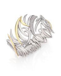Eddie Borgo | Metallic Pavé Crystal Prickle Cuff Bracelet | Lyst
