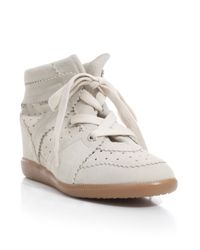 Isabel Marant | White Bobby Suede Sneaker | Lyst