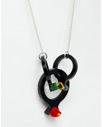 Tatty Devine | Black Cocktail Ring Necklace | Lyst