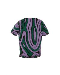 J.W.Anderson - Purple Green And Lilac Swirl Jacquard Top - Lyst