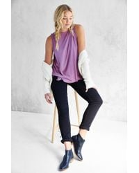 Silence + Noise - Purple Nashville Boatneck Tank Top - Lyst