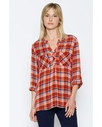 Joie | Red Nelia Plaid Shirt | Lyst