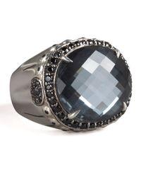 John Hardy | Black Bamboo Hematite Ring | Lyst
