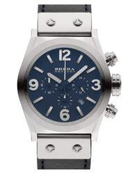 Brera Orologi - Blue 'eterno Piccolo' Chronograph Leather Strap Watch for Men - Lyst