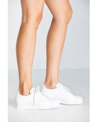 Adidas Originals - White Originials Samoa Perforated Mono Sneaker - Lyst