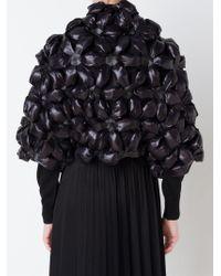 Comme Des Garçons Noir Kei Ninomiya - Black 3D Flower Bolero - Lyst