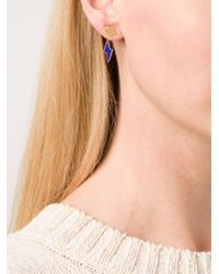Marie-hélène De Taillac - Metallic Cloud & Lapiz Lazuli Lighting Bolt Earrings - Lyst