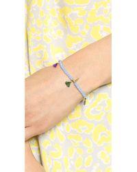 Shashi - Blue Lilu Crystal Bracelet Gold - Lyst