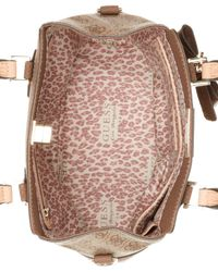 Guess - Brown Cheatin Heart Turnlock Satchel - Lyst