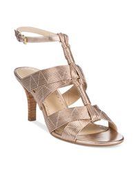 Adrienne Vittadini - Metallic Gittie Sandals - Lyst
