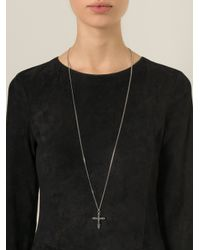 Givenchy | Metallic Crucifix Pendant Necklace | Lyst