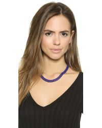 Marc By Marc Jacobs - Blue Rubber Chain Necklace - Black - Lyst