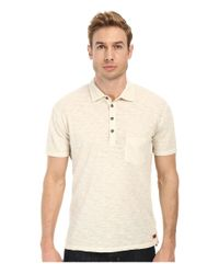 7 For All Mankind - Natural Raw Placket Polo for Men - Lyst