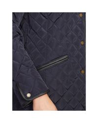 Ralph Lauren - Blue Faux-shearling Quilted Jacket - Lyst