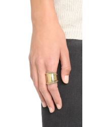 House of Harlow 1960 - Metallic Tambo River Knifed Ring - Gold - Lyst
