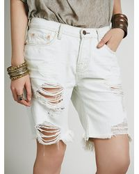 Free People | White Nsf Womens Bryant Distressed Cutoff | Lyst