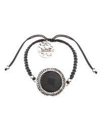 Soru Jewellery - Black Onyx Charm Cord Tie Bracelet - Lyst