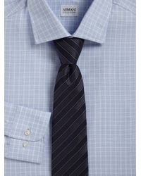 Armani - Blue Diagonal Stripe Tie for Men - Lyst
