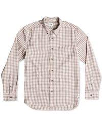 Quiksilver   Brown Northcatcher Plaid Long-sleeve Shirt for Men   Lyst