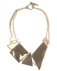 Arielle De Pinto - Metallic Decollete Shard Necklace - Lyst