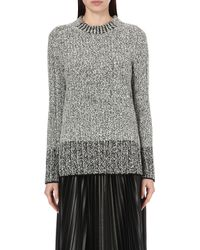 Rag & Bone | White Callista Textured Wool-blend Jumper | Lyst