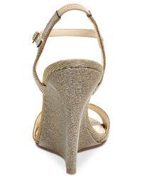 Betsey Johnson - Metallic Duane Wedge Sandals - Lyst