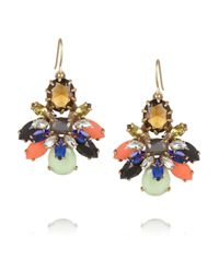 J.Crew | Blue Honey Bee Goldtone Crystal Earrings | Lyst
