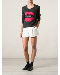 Markus Lupfer - Gray Bisous Lips Sweater - Lyst