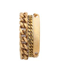 Serefina - Metallic Chain Layered Bracelet - Gold - Lyst