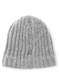 Norse Projects - Gray Charcoal Rib Alpaca-blend Beanie Hat for Men - Lyst