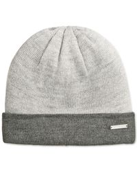 Michael Kors | Gray Michael Color Block Beanie for Men | Lyst
