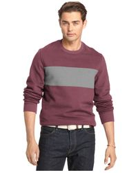 Izod | Purple Sueded Fleece Crewneck for Men | Lyst