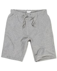 Sunspel - Gray Men's Loopback Cotton Short for Men - Lyst