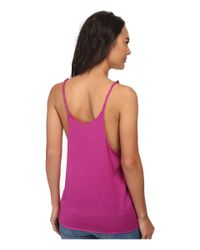 Hurley - Purple Solid Riot Twisted Strap Tank Top - Lyst