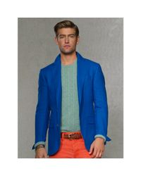 Polo Ralph Lauren - Blue Solid Linen Sport Coat for Men - Lyst