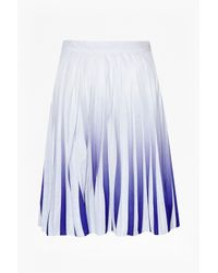 French Connection - Blue Miami Dip Dye Pleated Skirt - Lyst