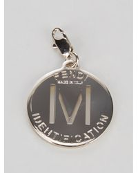 Fendi - Metallic Engraved Pendant - Lyst