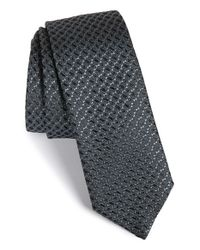 HUGO | Gray Textured Silk Tie for Men | Lyst