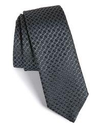 HUGO | Gray Textured Silk Tie for Men | Lyst