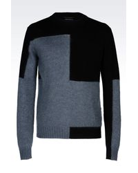Emporio Armani | Blue Jumper In Virgin Wool for Men | Lyst
