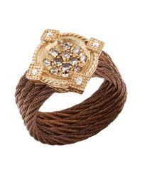 Charriol - Metallic Women'S Celtique Rose 18K Gold And Bronze-Tone Diamond .35Tcw Ring - Lyst