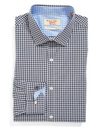 Original Penguin | Blue Slim Fit Check Dress Shirt for Men | Lyst