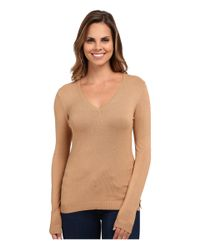 525 America | Natural V-neck Side Slit | Lyst