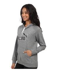 PUMA - Gray No 1 Logo Hoodie - Lyst