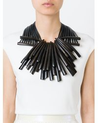 Monies - Black Wooden Shard Necklace - Lyst